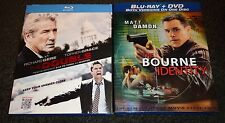 THE DOUBLE & THE BOURNE IDENTITY-2 BLU-RAYmovies-RICHARD GERE,MATT DAMON,C  OWEN