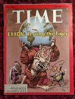 TIME magazine February 18 1974 Feb 2/18/74 Exxon Testing The Tiger Oil