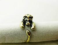 Löwen Ring Lion Tierring Fingerring Grössenverstellbar - bronze