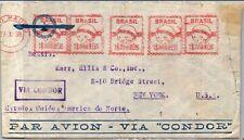 GP GOLDPATH: BRAZIL COVER 1938 AIR MAIL _CV523_P20