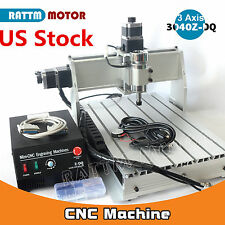【US Ship】CNC 3 Axis 300W 3040Z-DQ Router Engraving Milling Machine Ballscrew Kit