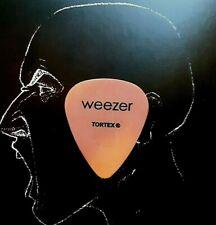 Weezer Dusty West Summer 2002 orange guitar pick
