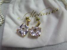 MELANIA TRUMP Goldtone Cushion and Baguette Cut Simulated Diamond Earrings