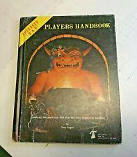 AD&D PLAYERS HANDBOOK 6TH PRINT TSR 1980 gary gygax dungeons and dragons d&d rpg
