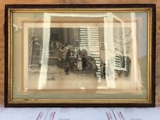 Large Antique Original 1880 Chirico Engraving Print UN MATRIMONIO IN BASILICATA
