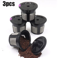 3pcs Reusable Refillable K-Cup Coffee Filter Pod For Keurig MINI PLUS 2.0 1.0