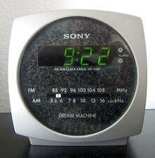 SONY ICF-C160 DREAM MACHINE silber Radiowecker Uhrenradio AM/FM Radio vintage