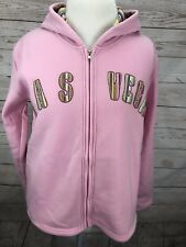 Las Vegas Embroidered Hoodie Jacket L Hooded Pink DC Classic New RT: $60 NWT