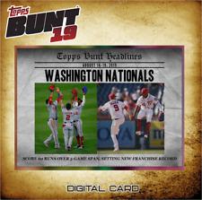 2019 HEADLINES AUG 20 WASHINGTON NATIONALS Topps Bunt Digital Card