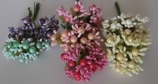 10 Unusual craft stamens ideal for foamiran flowers - 7 colours