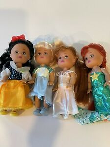 "LOT 4 Smart Talent Toys Princesses Alice Ariel Snow Sleeping Beauty 5"" Dolls"