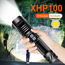 XHP100  Powerful LED Flashlight USB Rechargeable LED Torch Tactical Flashlight