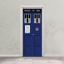 TARDIS Door Decal Doctor Who Time Machine / Police Box Self Adhesive Door Wrap