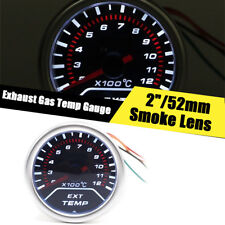 LED display 2 inch Exhaust Gas Temperature Smoke Lens Car EGT  Gauge Meter