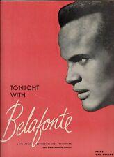 Tonight with BELAFONTE 1959 Souvenir Program & Playbill Washington DC