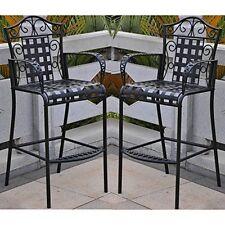 International Caravan Set Of 2 Mandalay Iron Bar Height Chair 3467 2Ch Ant Bk