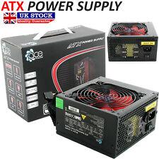 ACE Black 500W PSU PC Power Supply Unit Quiet 120mm Red Fan Desktop ATX New