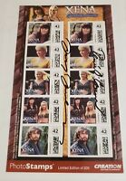 XENA POSTAGE STAMPS - SIGNED BY LUCY LAWLESS AND RENEE O'CONNER ONLY 200 EXIST!