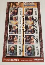 LUCY LAWLESS & RENEE O'CONNER SIGNED AUTOGRAPHS - XENA & GABRIELLE - LIMITED 200