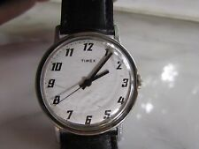 Men's Antique manual wind Timex Wristwatch with a genuine calfskin band