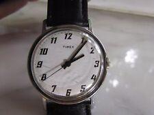 Men's Antique manual wind Timex Wristwatch with a genuine calfskin band