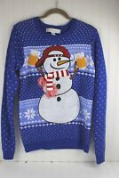 Ugly Christmas Sweater Beer Snowman Party Men's Size Small S Jolly Sweaters