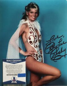 CATHY LEE CROSBY SIGNED 8x10 PHOTO ORIGINAL TV WONDER WOMAN B BECKETT BAS COA