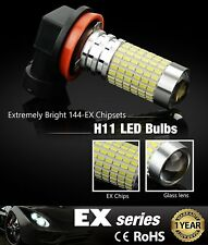 Extremely Bright 2pc 144 SMD H11 LED Bulbs w/ Projector for DRL Fog Light White
