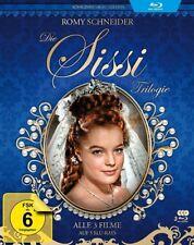 DIE SISSI TRILOGIE (Romy Schneider) Königinnenblau-Edition, 3 Blu-ray Discs NEU