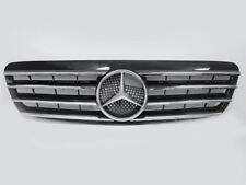 CL Black Front Sport Grille Grill  4 Fence For 00-02 Mercedes Benz W220 S-Class