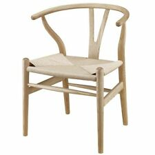 Wooden Wishbone Chair Solid Oak Dining Room Furniture Luxury Armchair Classic