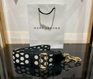 Webbing Strap Black & small White polca dot for Marc Jacobs Snapshot camera bag