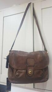 Mia Soft Brown Leather Shoulder Handbag BNWT RRP £79
