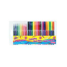 Colouring Fibre Pens Brush Marker Magic Markers 24 Bright Pens Set - 1092