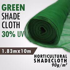 30% UV 1.83m x 10m Green Shade Cloth Horticultural Shade x 10m