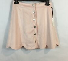 NEW Lovers + Friends Small S Skirt Blue Moon Faux Suede Blush Nordstrom $148