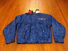 Men's VTG 90's Tommy Hilfiger Royal Yellow Nylon Fleece Jacket sz L