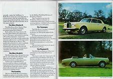 Rolls-Royce 1977-80 UK Brochure Silver Shadow Wraith Corniche Camargue Phantom