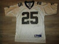 New Orleans Saints #25 Bush NFL Reebok Jersey Medium M Mens