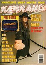 Don Dokken on Kerrang Cover 1986     AC/DC     Zeno     FM     Cheap Trick