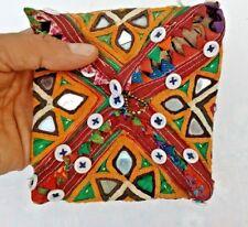 Old Vintage Mirror & Button Work BOHO HIPPIE Embroidered Wallet/Purse/Bag/Clutch