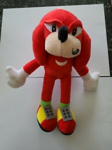 red plush character toy like sonic hedgehog with suction cup 28cm approx