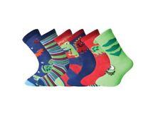 12 Pairs Kids Boys Cotton Socks School Summer Trainer Ankle Socks Sea Life Space 6-8 B10729
