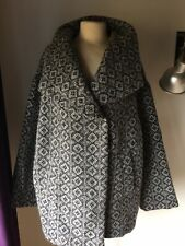 Bonmarche Jacket Swing  Coat Check Tapestry 20 Wool Polyester Mix