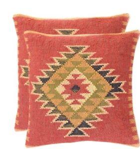 Handmade Kilim Pillow Cover 16x24 Vintage Rug Tribal Ethnic Bohemian Lumbar E480