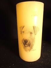 Wonderful Wire Fox Terrier Vanilla Scented Candle