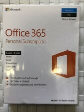 Microsoft Office 365 Personal | 1 Device | 1 Year |PC/Mac & Tablet|