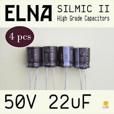 [4 pcs] ELNA RFS 50V 22uF (10x12.5) SILMIC II High Grade Capacitors for Audio