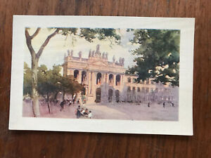 Roma Basilica Di Giovanni Unused Old  Vintage Postcard Early 1900s Hand Tinted