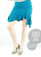 NWOT KOOKAI Turquoise Wool 'Cute as 'Ever' Mini Skirt Size 6
